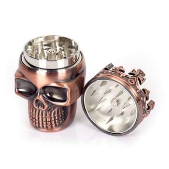 Punk Ghost Head Skull Style plástico tabaco molinillo Herbal mano Muller Smoke Grinders accesorios para fumar #2