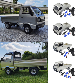 Toy RC Truck Car 1:10 4WD Climbing 4WD and 2 or 3 Battery Electric Toy, Full Charge for 2h and It Will Last Up for 20-30mins image