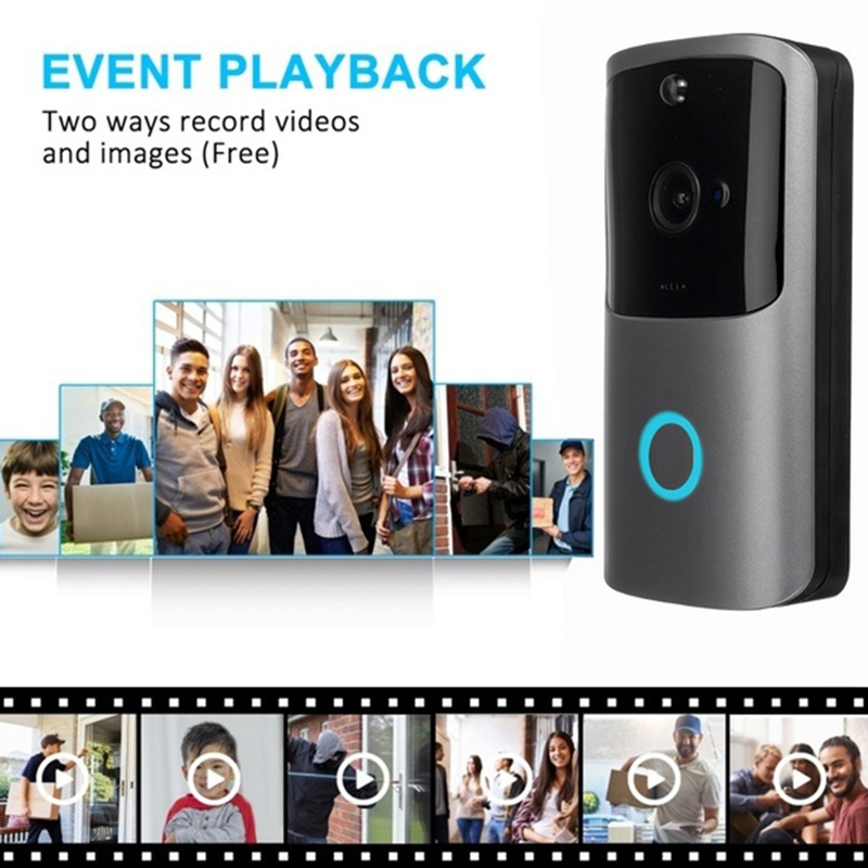 720P Wifi Smart Night-Vision Wireless Security Doorbell with App Video HD Visual Intercom Door Bell Camera