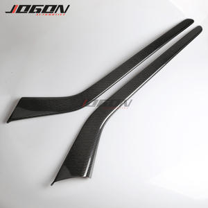 Image 3 - Matte & Glossy Carbon For Tesla Model 3 2017  2020 Car Central Console Side Panel Trim Decoration Anti scratch
