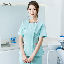 Scrubs-Set Spa-Uniform Grooming Coat Beautician-Set Green Pet Women Institution Health-Services