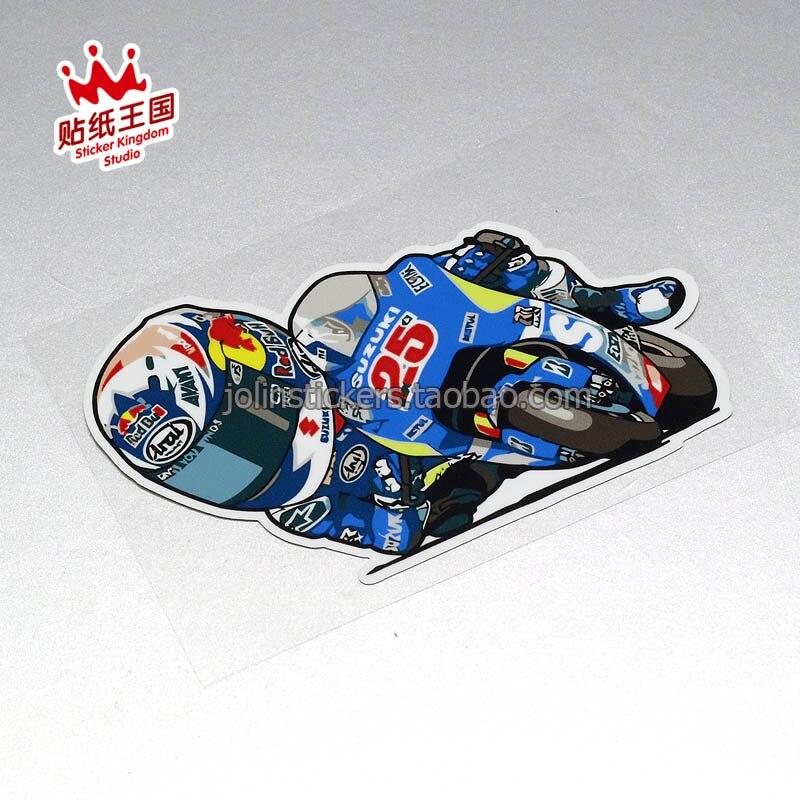 Für MotoGP 25 MAVERICK 41 ALEIX helm motorrad motor bike Abziehbilder Wasserdicht Aufkleber 23