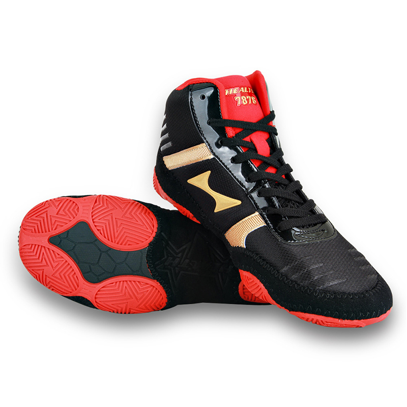 Original Health Boxing Shoes for Men Women Authentic Breathable Wrestling Boots Light Flighting Gym Weightlifting Shoes