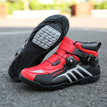 Soft Non-slip Protective Motorcycle Boots Couple Locomotive shoes Racing Ankle Riding shoes BMX ATV DH MX Motocross Boots