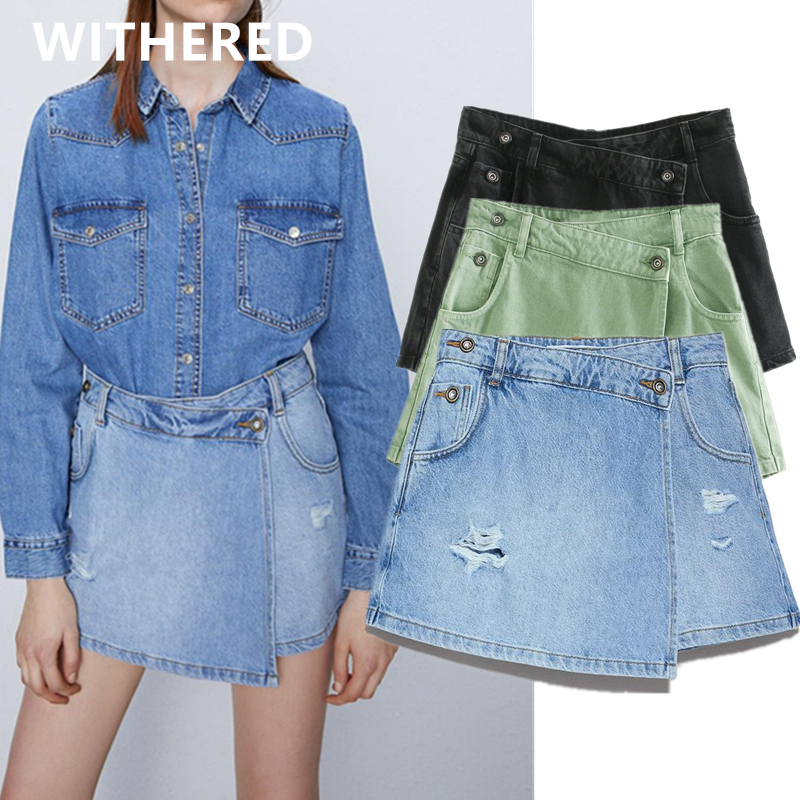 Withered ins fashion blogger vintage high street high waist <font><b>sexy</b></font> <font><b>mini</b></font> denim <font><b>shorts</b></font> <font><b>women</b></font> <font><b>short</b></font> feminino plus size culottes <font><b>women</b></font> image