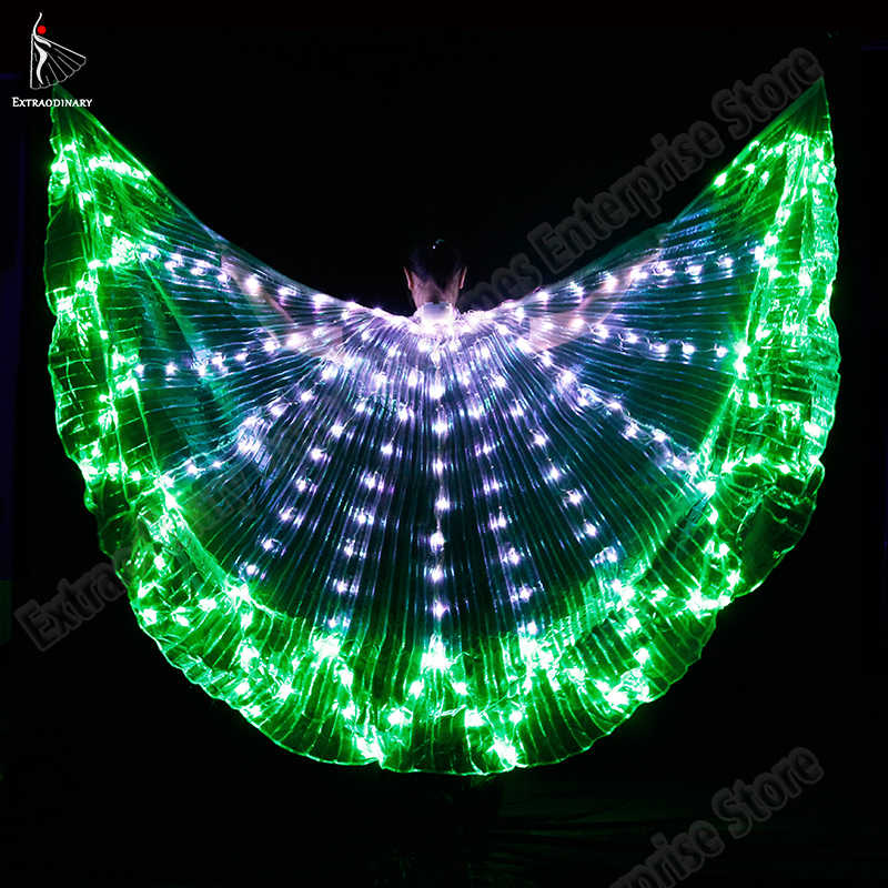 360 Degrees Isis Wings LED With 2pcs Telescopic Sticks for show cosplay prop
