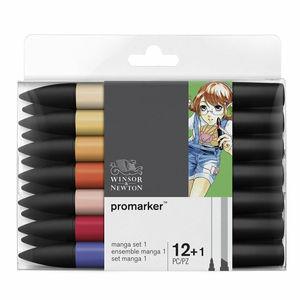 Image 5 - Winsor & Newton Promarkers Twin Tip Marker Pens 6 Colors & 12 Colors Blender Artist Brush Pen