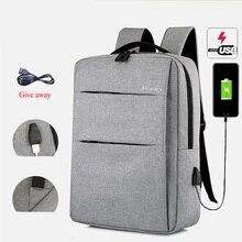 Nylon laptops backpacks unisex 15.6 inch kokorean version gray/black women/men's 2020 concise bags