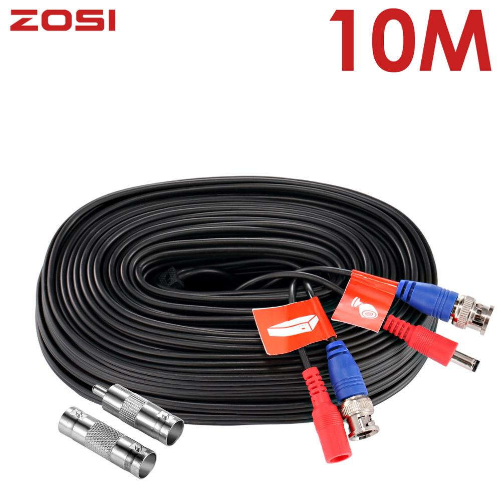 ZOSI 10M Transmission Connector BNC Video Wire Camera Power Security Cable Powerline For CCTV Surveillance System DVR Kit