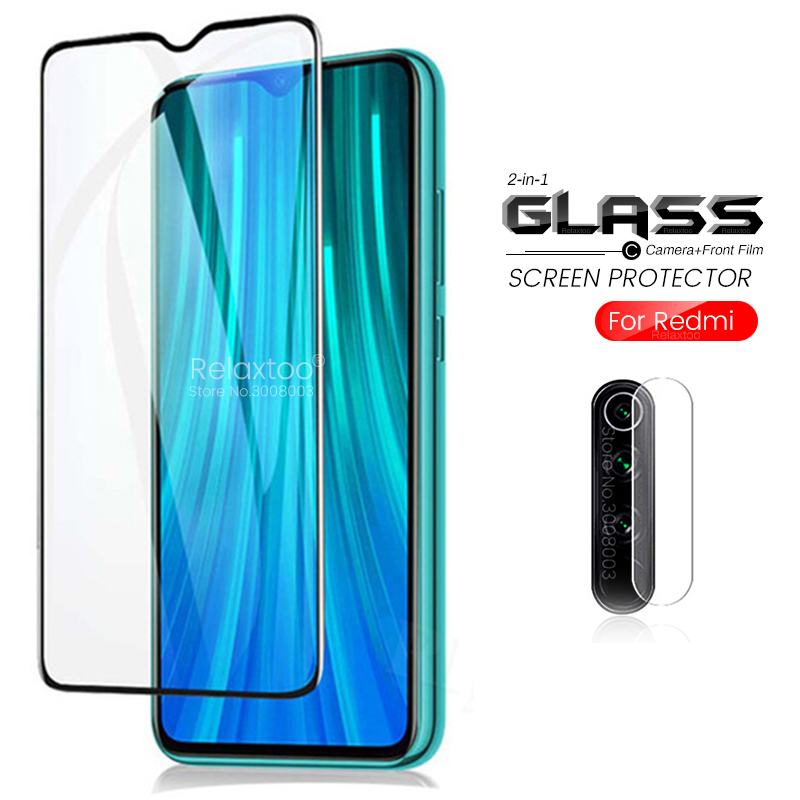 2-in-1 Camera Glass For Xiaomi Redmi Note 8 Pro 8t Safety Protective Glass Redmi Note 8 T Armor Protection Film Note8t Note8 T