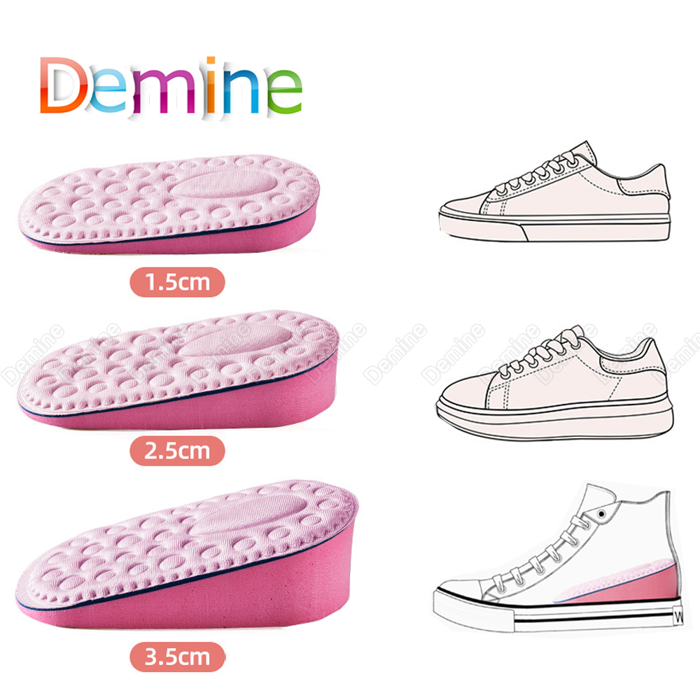 EVA Memory Foam Height Increased Insoles Heel Pad Invisible Shoe Inserts Heighten Increase Half Insole Foot Care Shoes Cushion