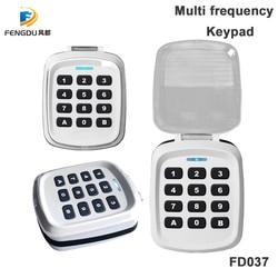 Waterproof 433Mhz Garage Door Wireless Keypad multi frequency for rolling code remote control duplicator