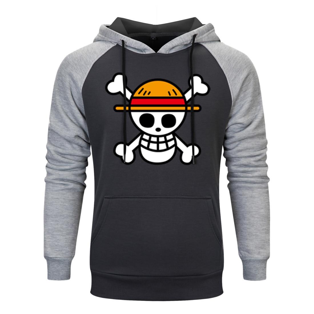 Anime One Piece Mens Hooded Hoodies 2020 spring autumn Hoodie Pullover Funny Skull Luffy print Hoody cool Streetwear Sweatshirt