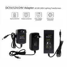 Power Adapter Versorgung DC 5V 12V 24 V 1A 2A 3A 5A 6A 8A DC 5 12 24 V Volt Beleuchtung Transformatoren Led-treiber Power Adapter Streifen Lampe(China)
