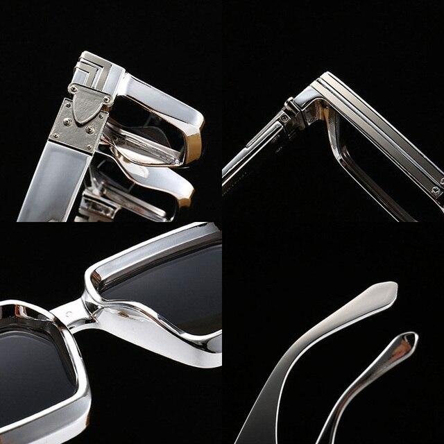 SHAUNA Retro Square Sunglasses Women Brand Designer Summer Styles Candy Colors Fashion Silver Mirror Shades Men UV400 6