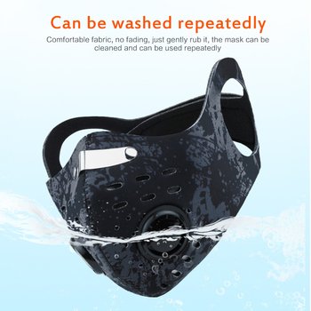 Cycling Face Mask Activated Carbon filter Windproof Masks Anti-spittle Outdoor Sports Safety Working Running Hiking Face Masks 1