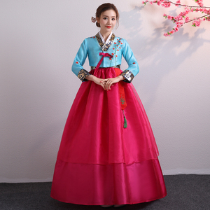 Image 4 - קוריאני Hanbok מסורתי ביצועים תלבושות עבור נשים אלגנטי Hanbok ארמון קוריאה חתונה Oriantal ריקוד תלבושות