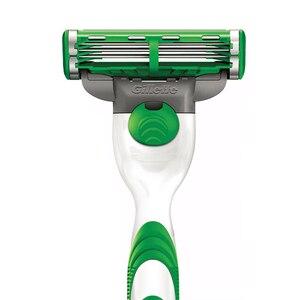Image 2 - Gillette mach 3 potência sensível lâmina de barbear lâminas para homens barbear 4 lâminas clipper cabelo segurança lâminas substituição cabeças