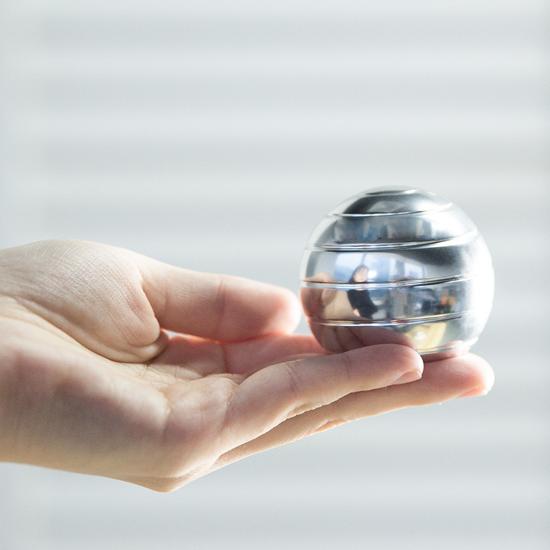 Fidget Toys Metal Gyro Desktop Ball Rotary Gyro Aluminum Alloy Round Metal Kinetic Decompression Toy img4