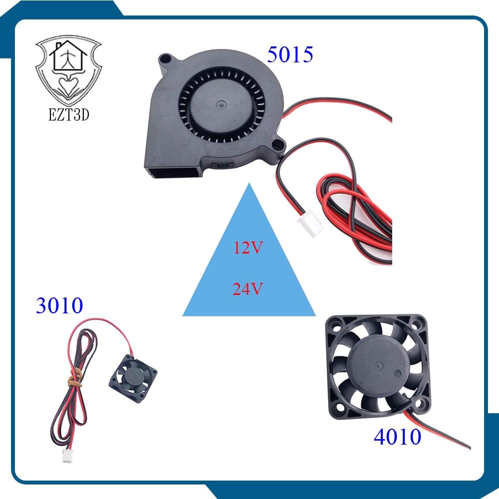 3D Print 3010 4010 5015 DC 12V/24V Fan Heat Dissipating Fan 2Pin-2.5 3d printer accessories