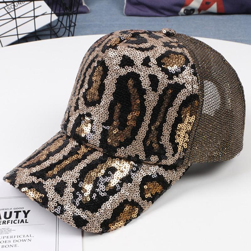 YOYOCORN-Gorra deportiva Sanpback para mujer, gorras de béisbol bordadas con lentejuelas, sombreros curvos casuales para chicas, gorro de hip hop ajustable