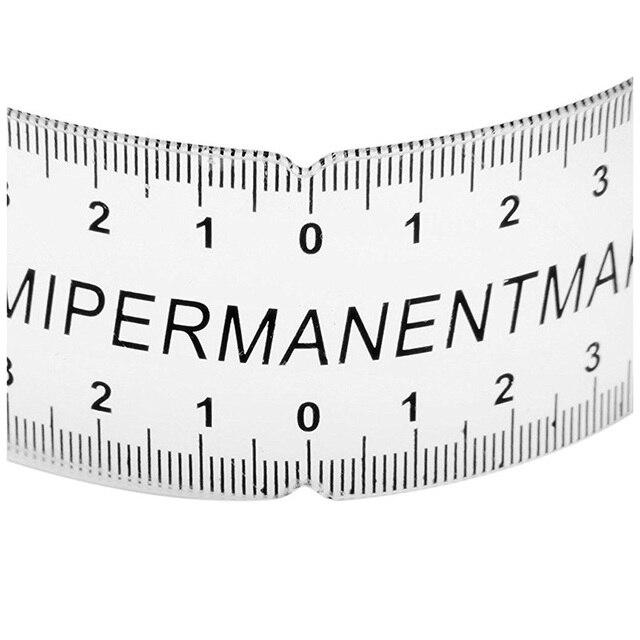 NEW-Eyebrow Care Stencil Shaper Ruler Measuring Tool Makeup Reusable black 4