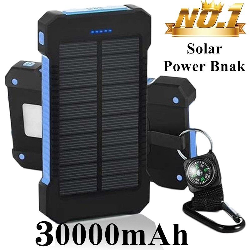 Solor Power Bank 30000mAh Powerbank Mobile External Battery Portable Fast Charger Digital Display For All Smartphone Power Bank