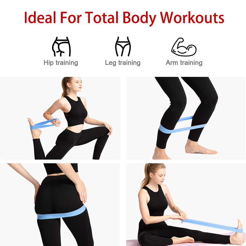 Natural Latex Resistance Bands in 5 to 40 LB as Pulling Equipment in Gym for Total Body Workout 13
