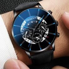 Reloj Hombre Luxury Men's Watch Fashion Men's Business Calendar Stainless Steel