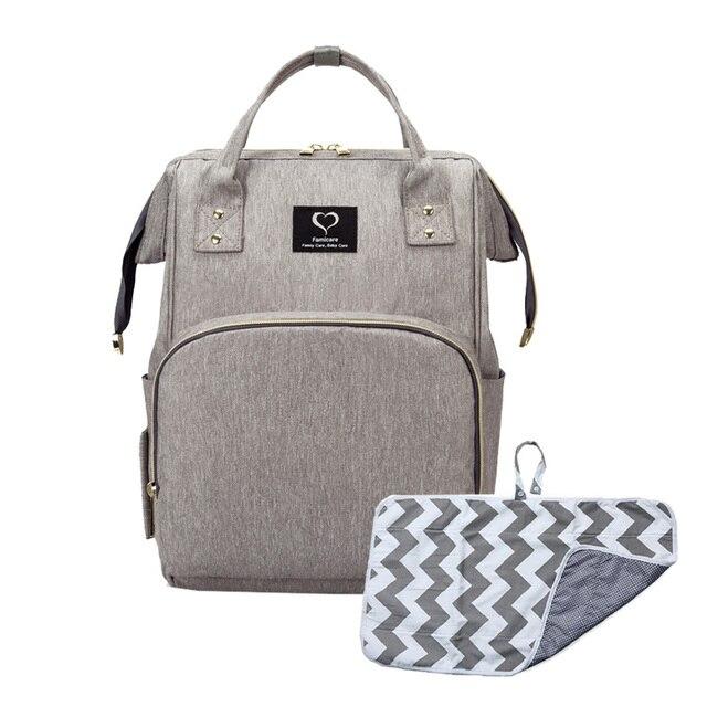 Bolsa de pañales para bebés, mochila de maternidad, artículos para el cuidado del bebé, cambiador