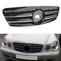 4-контактный передний гриль для автомобиля Mercedes Bens C-Class W203 C230 C240 C320 2000 2001 2002 2003 2004 2005 2006 w/эмблема