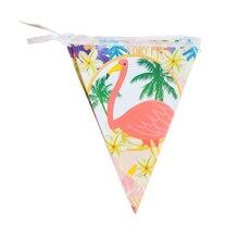 Новые Вечерние фламинго для вечеринки в честь Дня Рождения, Вечерние Декорации для комнаты, флаги для вечеринки