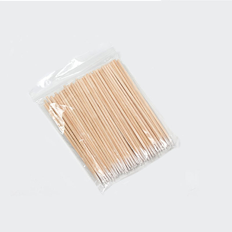 100pcs Wooden Pointed Cotton Swab Professional Makeup Medical Beauty Healthy Ear Cleaning Care Stick Eyelash Extension Tools
