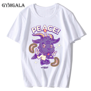 100% cotton anime cartoon Geng ghost printed men's T-shirt summer cotton short-sleeved T-shirt fashion tops tee men's clothing f - XQ-131white, Asian size M