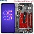 Дисплей для Huawei Nova 5 T ЖК-дисплей сенсорный экран с рамкой дигитайзер Замена для Huawei Nova 5 T Honor 20 Lcd