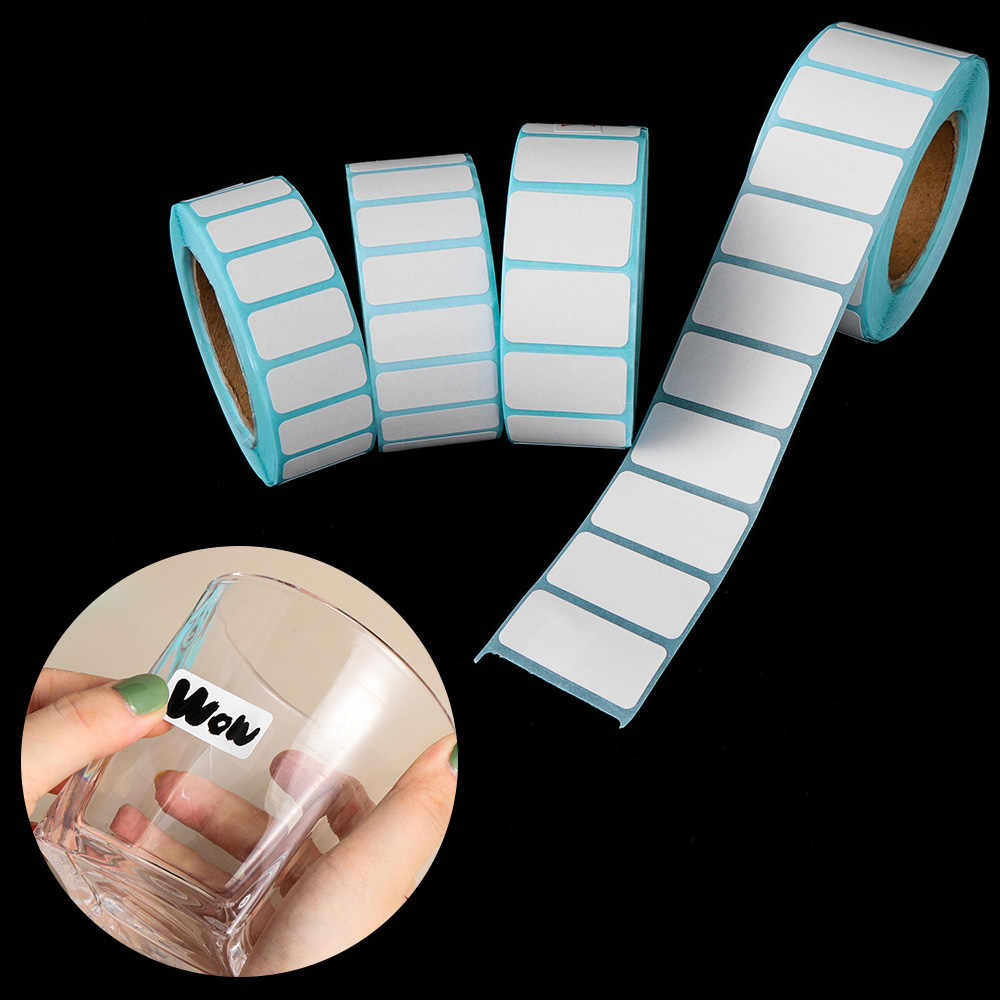 1000 Pcs/Rolo Venda Quente À Prova D' Água Pacote de Supermercado Etiqueta de Preço Em Branco Tag Papel de Etiqueta Adesivo Térmico Suprimentos de Impressão