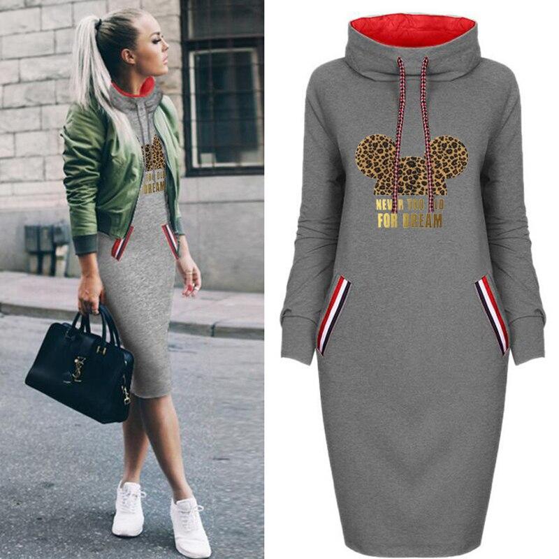 Весенне-осеннее женское платье с леопардовым принтом большого размера, модные облегающие платья, винтажные вечерние повседневные женские ...