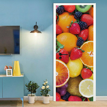 цена на 3D creative fruit door stickers wall stickers self-adhesive waterproof removable