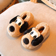 cute cartoon baby toddler shoes for boys girls puppy dog children's slipper snon-slip soft-soled kids warm cotton shoes(China)