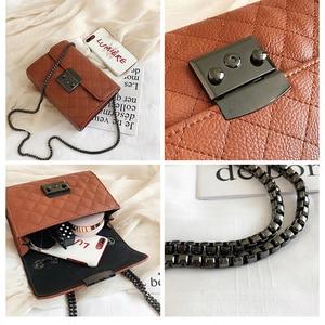 Image 5 - Small Messenger Chain Bag For Women 2020 Pu Leather Ladies Black Crossbody Bags Designer Luxury Woman Summer Shoulder Modis WE12
