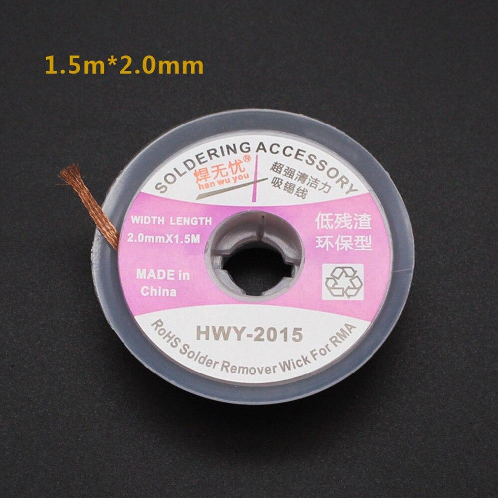 5 Feet//1.5m 3mm Desoldering Braid Solder Wick PCB IC BGA Desoldering Tin Removal