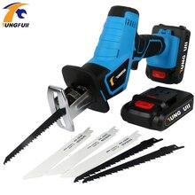 цена на 6PCS Saw Blade Cordless Reciprocating Saw Saber Saw Portable  Electric Power Tools Jig Saw With LED Light Power Saw Tool