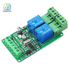 цена на Modbus-Rtu 2 Channel 12V Relay Module Switch Input / Output RS485 / TTL Communication Interface