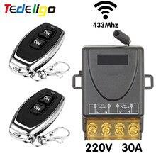 Luce interruttore Wireless 433MHz RF telecomando on Off AC 220V 30Amp controllo relè per scaldacqua pompa di ventilazione ventilatore plafoniera