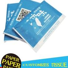 Napkins Pocket Paper-Towels Advertising Printed-Logo Folding Wallet-Style Manufacturer-Made