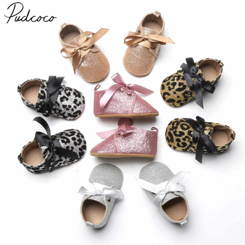 2020 Baby First Walkers Baby Tassel Soft Sole Glitter Shoes Infant Boy Girl Toddler Solid Glitter Moccasin 0-18M