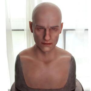 Dokier реалистичный силиконовый головной убор ручная работа полная голова молодой человек кино маски-реквизит Хэллоуин косплей мужской и жен...