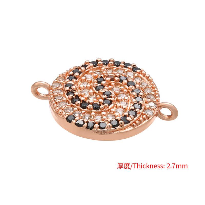 ZHUKOU 13x17mm Pirulito encantos Conector de Cristal para As Mulheres Acessórios Pulseira Colar de Jóias fazendo descobertas modelo: VS405