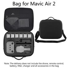 Travel Carrying Case Large Capacity Storage Bag Shockproof Protective Box with Shoulder Strap for D-JI Mavic Air 2 Drone Accesso storage case portable travel carrying bag waterproof box for d ji mavic air 2