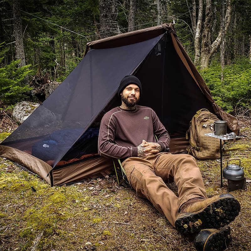 OneTigris Alpenstock łatwa konfiguracja 3-sezonowe schronienie dla poszukiwaczy przygód Camping 3 namiot sezonowy pasuje do 2 osób